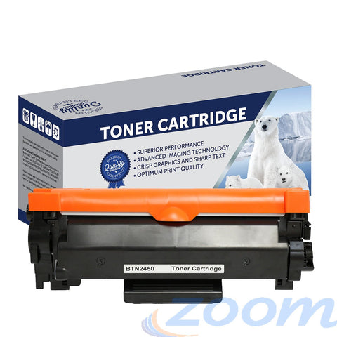 Premium Compatible Brother TN2450, TN2430 Mono Laser High Yield Toner