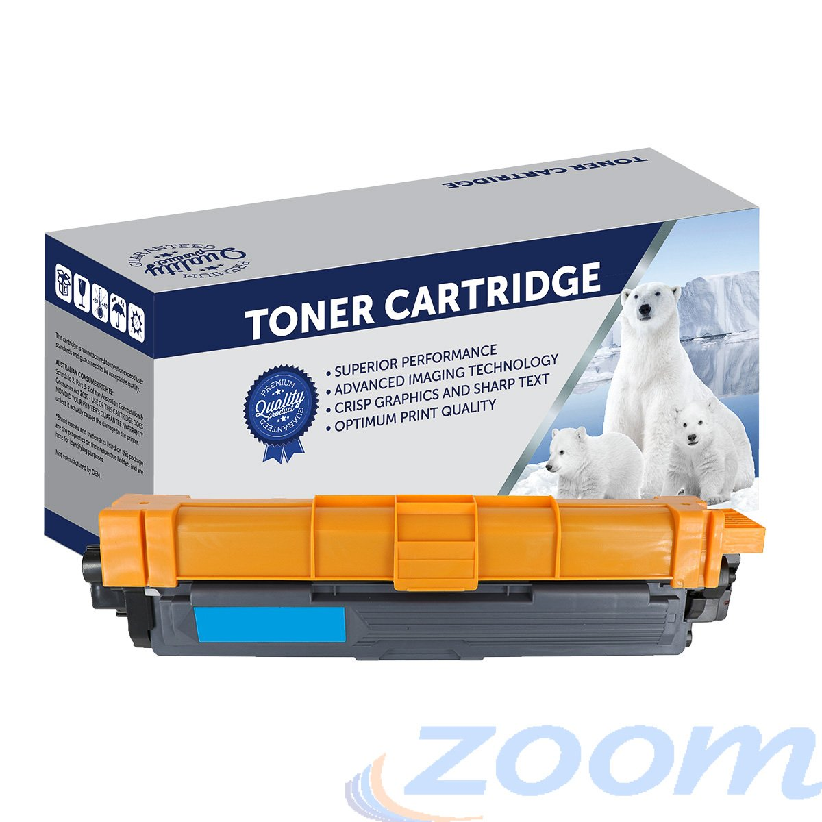 Premium Compatible Brother TN255C, TN251C Cyan High Yield Laser Toner