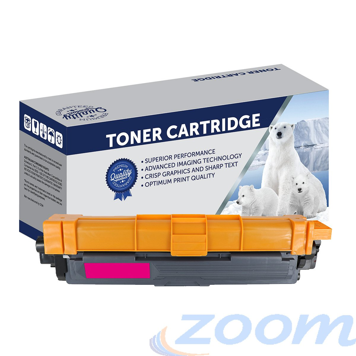 Premium Compatible Brother TN255M, TN251M Magenta High Yield Toner Cartridge