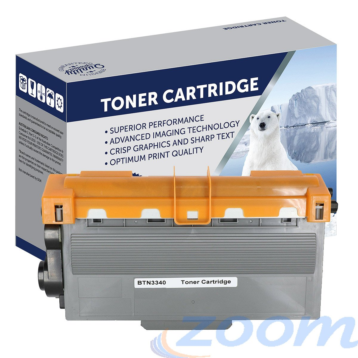 Premium Compatible Brother TN3340, TN3310 Mono Laser High Yield Toner