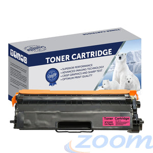 Premium Compatible Brother TN348M, TN340M Magenta High Yield Toner Cartridge