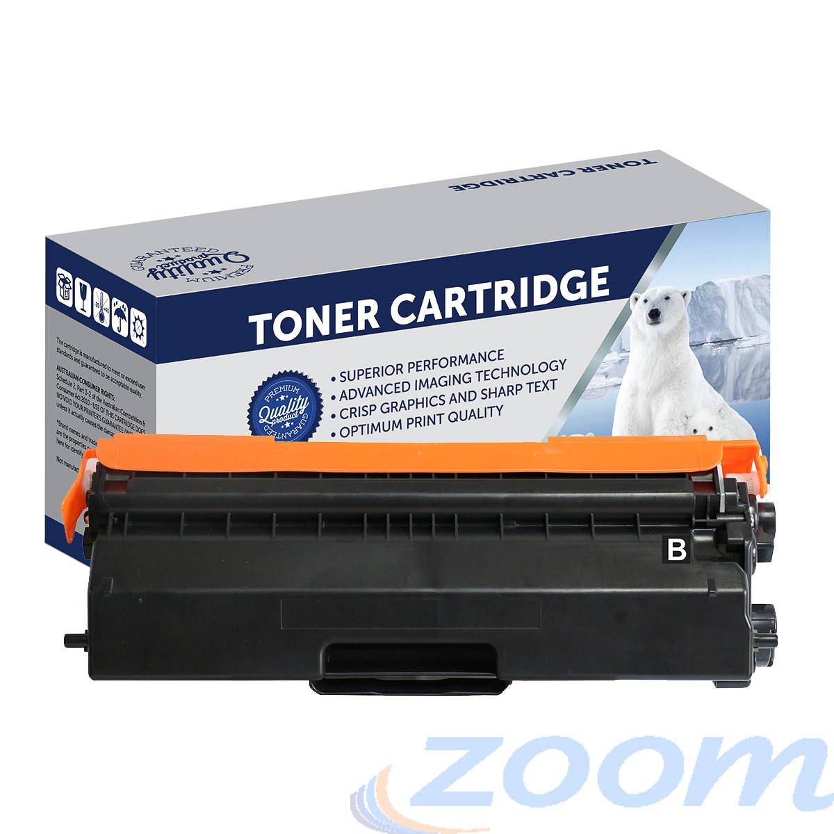 Premium Compatible Brother TN443BK, TN441BK Black High Yield Toner Cartridge