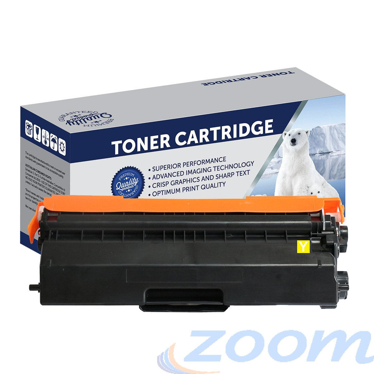 Premium Compatible Brother TN443Y, TN441Y Yellow High Yield Laser Toner