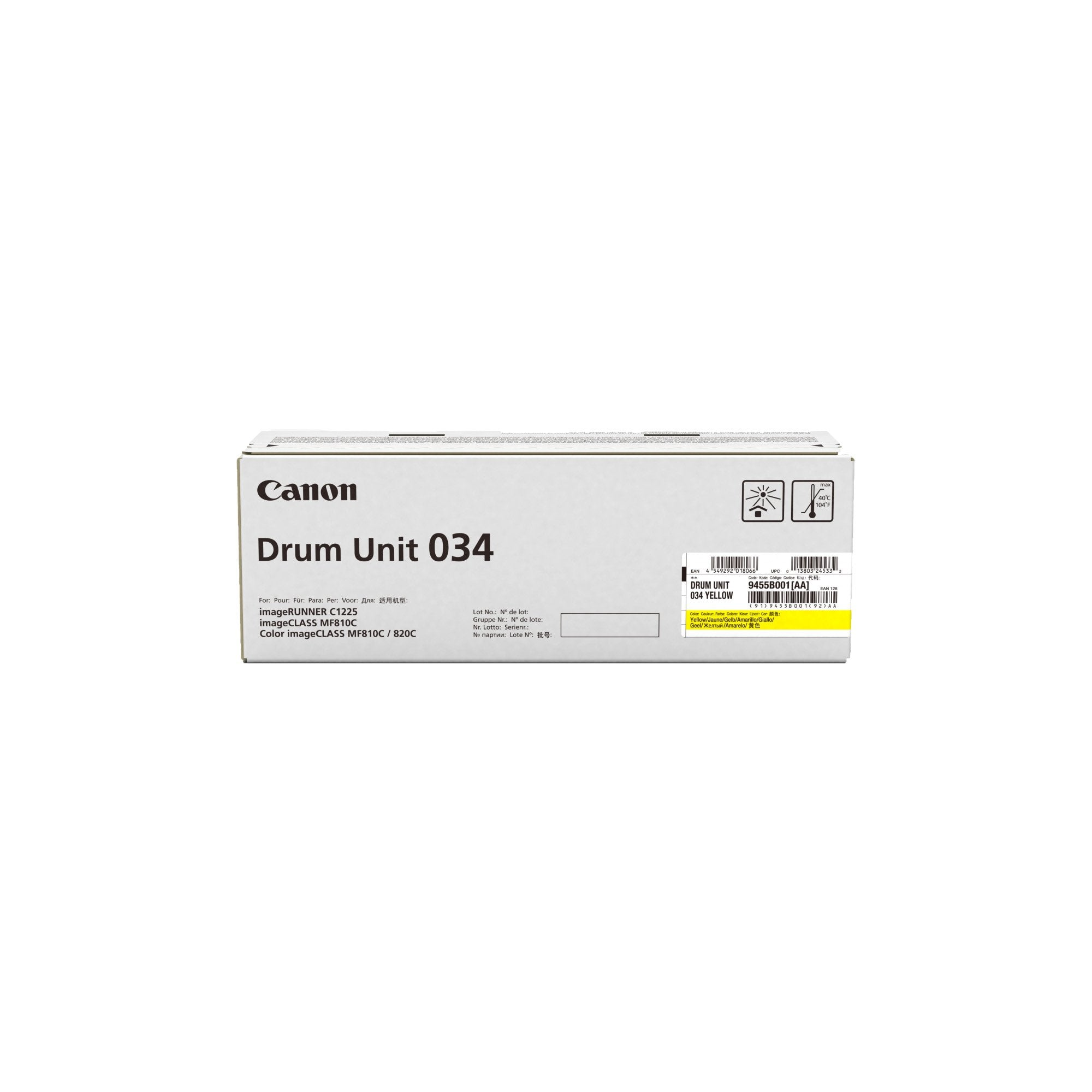 Canon CART034YD Yellow Toner Cartridge