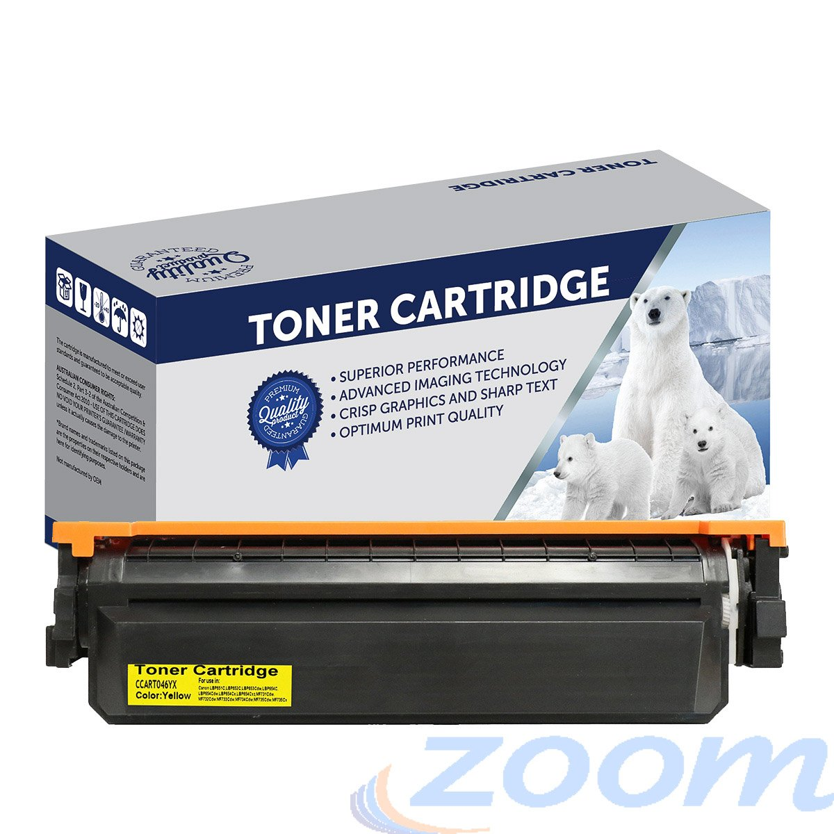 Premium Compatible Canon CART046YH Yellow Laser Toner