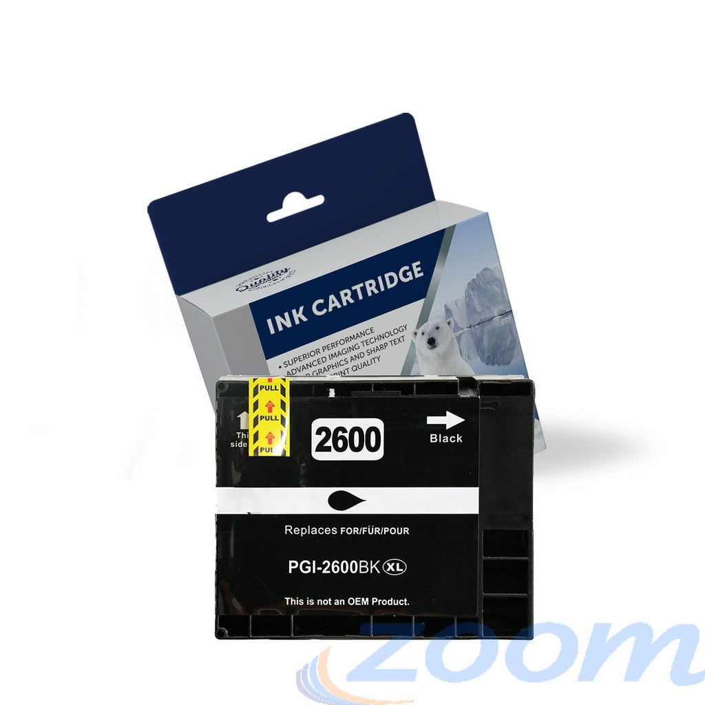 Premium Compatible Canon PGI2600XLBK Black High Yield Ink Cartridge