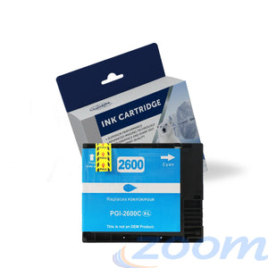Premium Compatible Canon PGI2600XLC Cyan High Yield Ink Cartridge