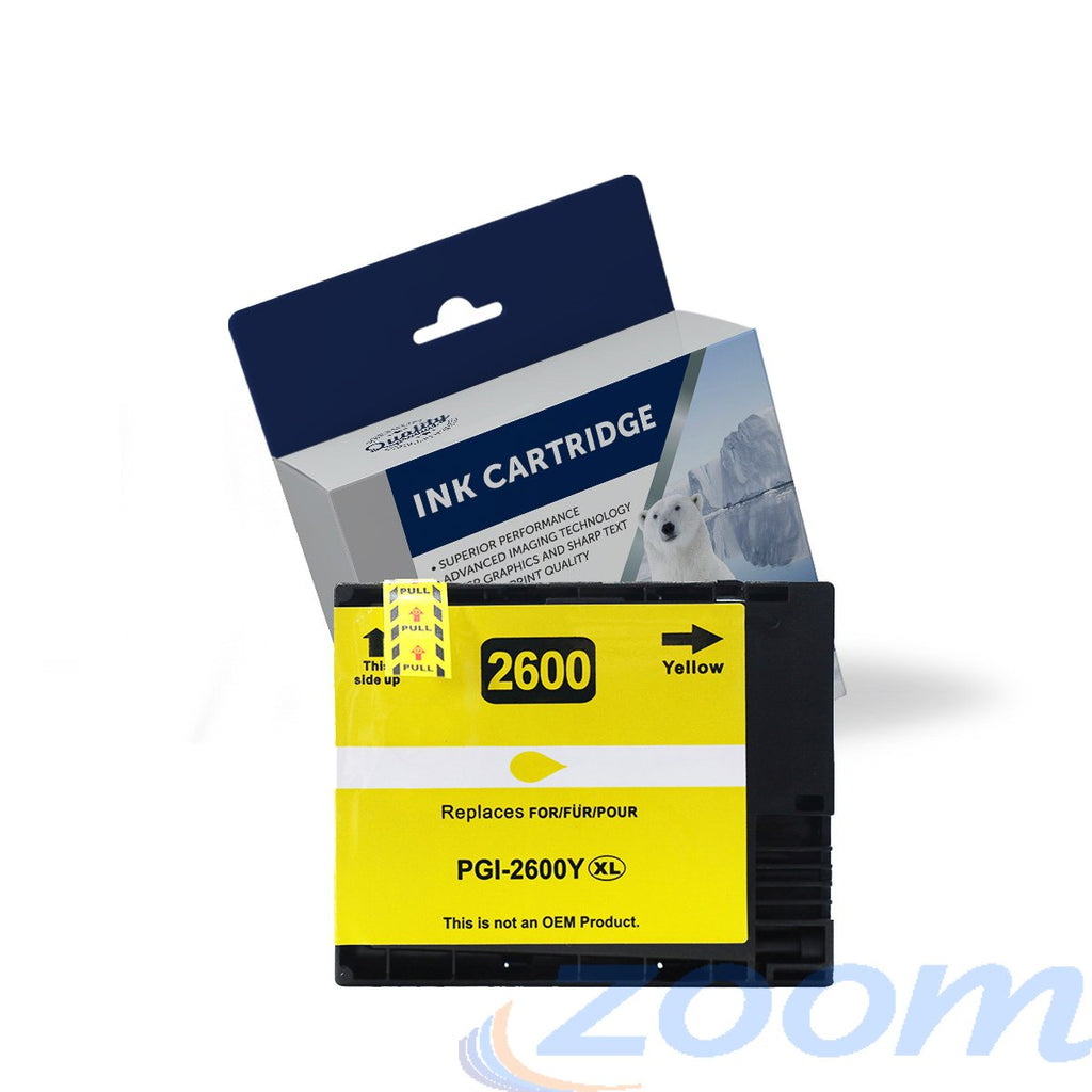 Premium Compatible Canon PGI2600XLY Yellow High Yield Ink Cartridge