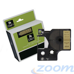 Premium Compatible Dymo SD40923 Black Text on Gold Tape