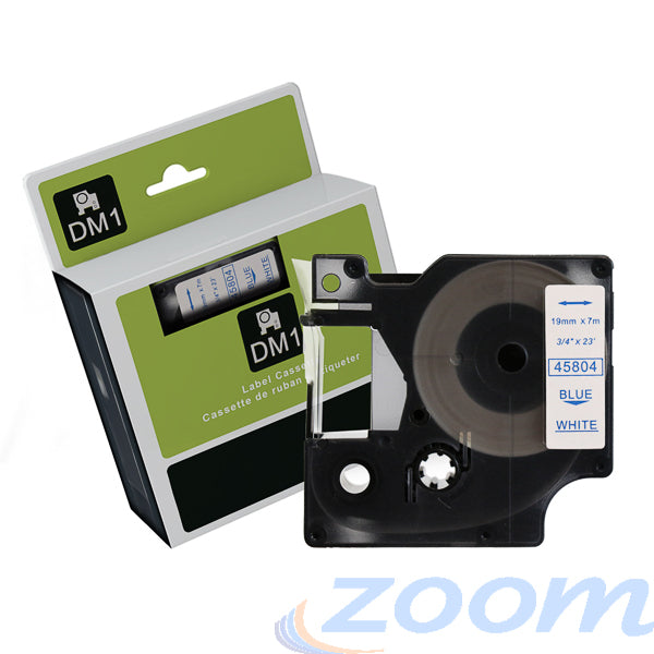 Premium Compatible Dymo SD45804 Blue Text on White Tape