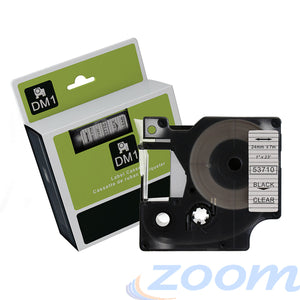 Premium Compatible Dymo SD53710 Black Text on Clear Tape
