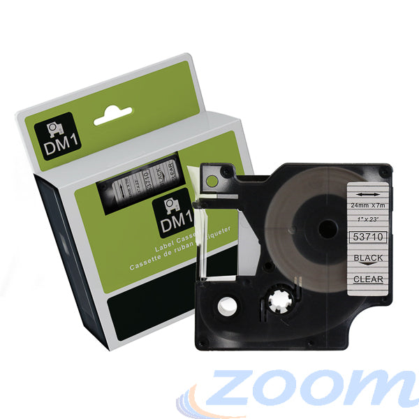Premium Compatible Dymo SD45810 White Text on Clear Tape
