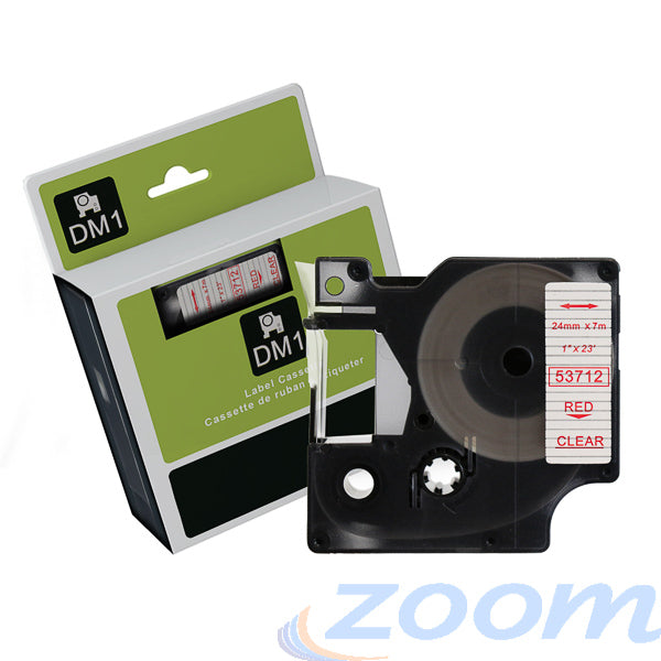 Premium Compatible Dymo SD45812 Black Text on Silver Tape