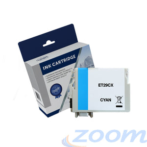 Premium Compatible Epson C13T299292, 29XL Cyan High Yield Ink Cartridge