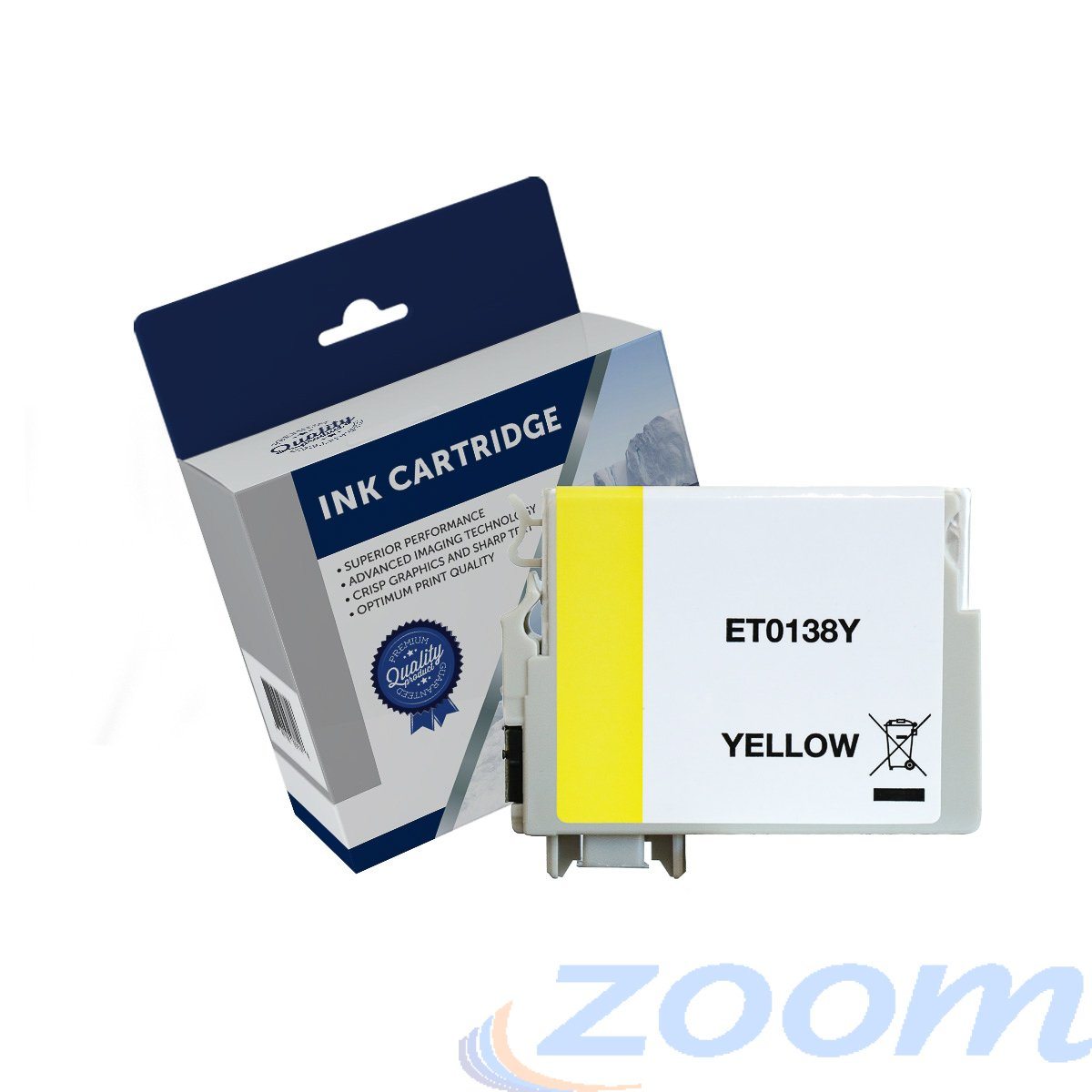Premium Compatible Epson C13T138492, 138 High Yield Yellow Ink Cartridge
