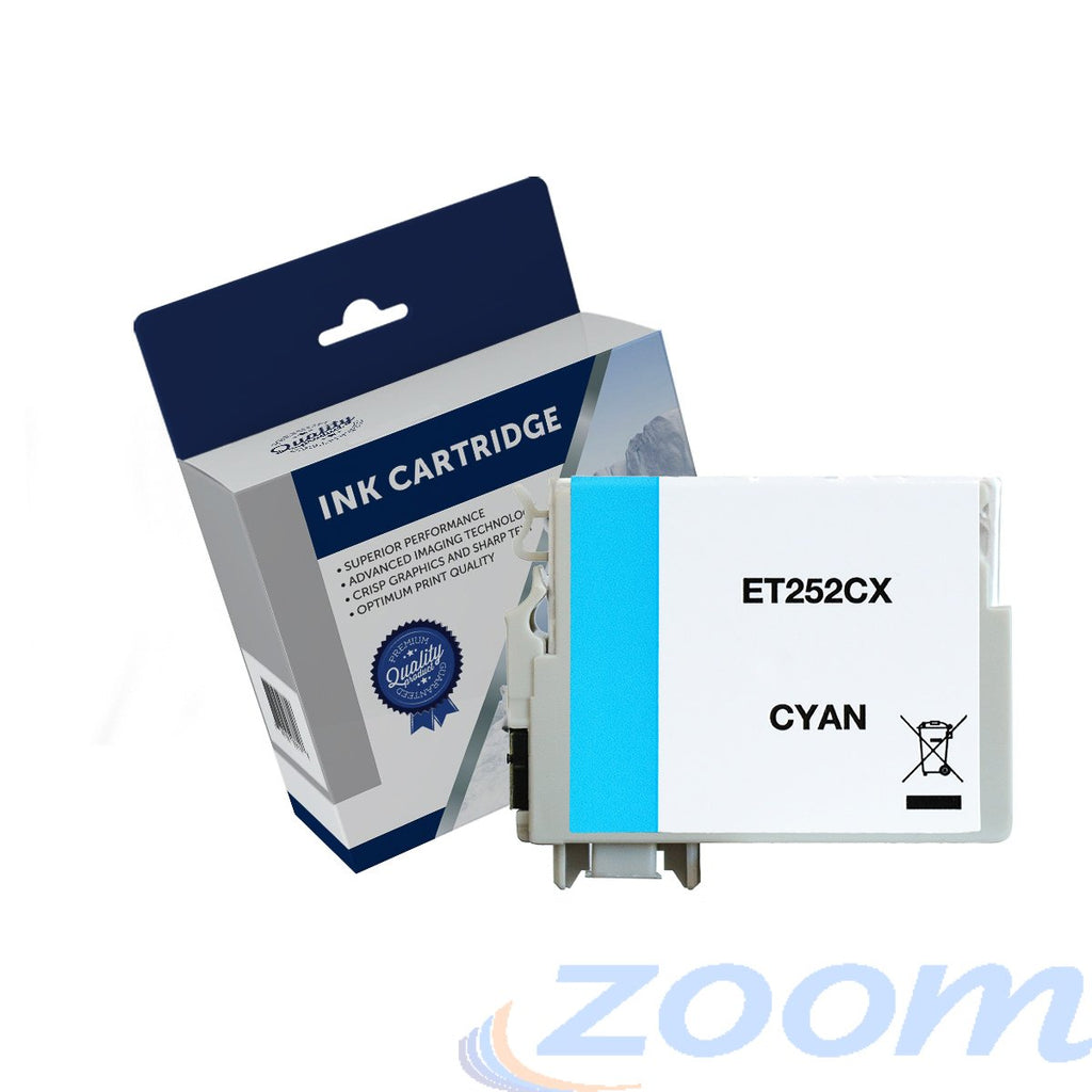 Premium Compatible Epson C13T253292, 252XL Cyan High Yield Ink Cartridge