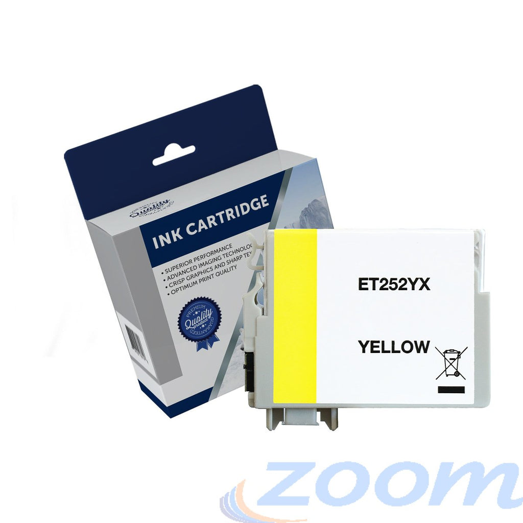 Premium Compatible Epson C13T253492, 252XL Yellow High Yield Ink Cartridge