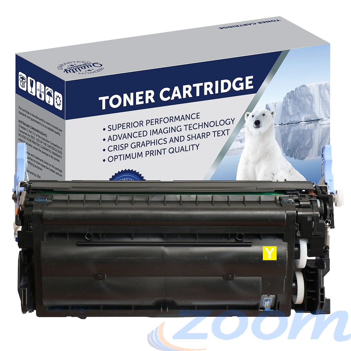Premium Compatible HP Q6472A, #502 Yellow Toner Cartridge