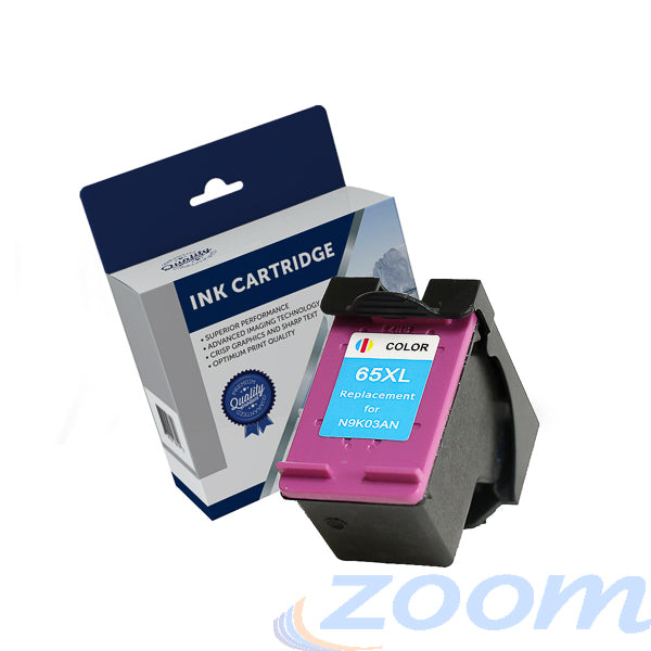 Premium Compatible HP N9K03AA, #65XL TriColour High Yield Ink Cartridge