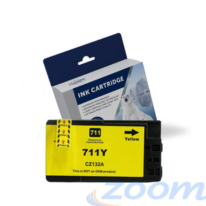 Premium Compatible HP CZ132A, #711 Yellow Ink Cartridge