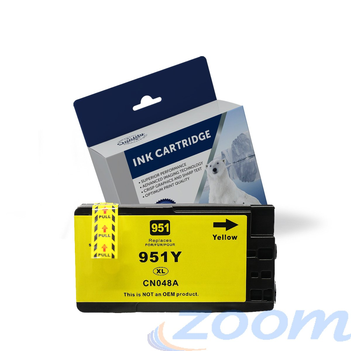 Premium Compatible HP CN048AA, #951XL Yellow High Yield Ink Cartridge