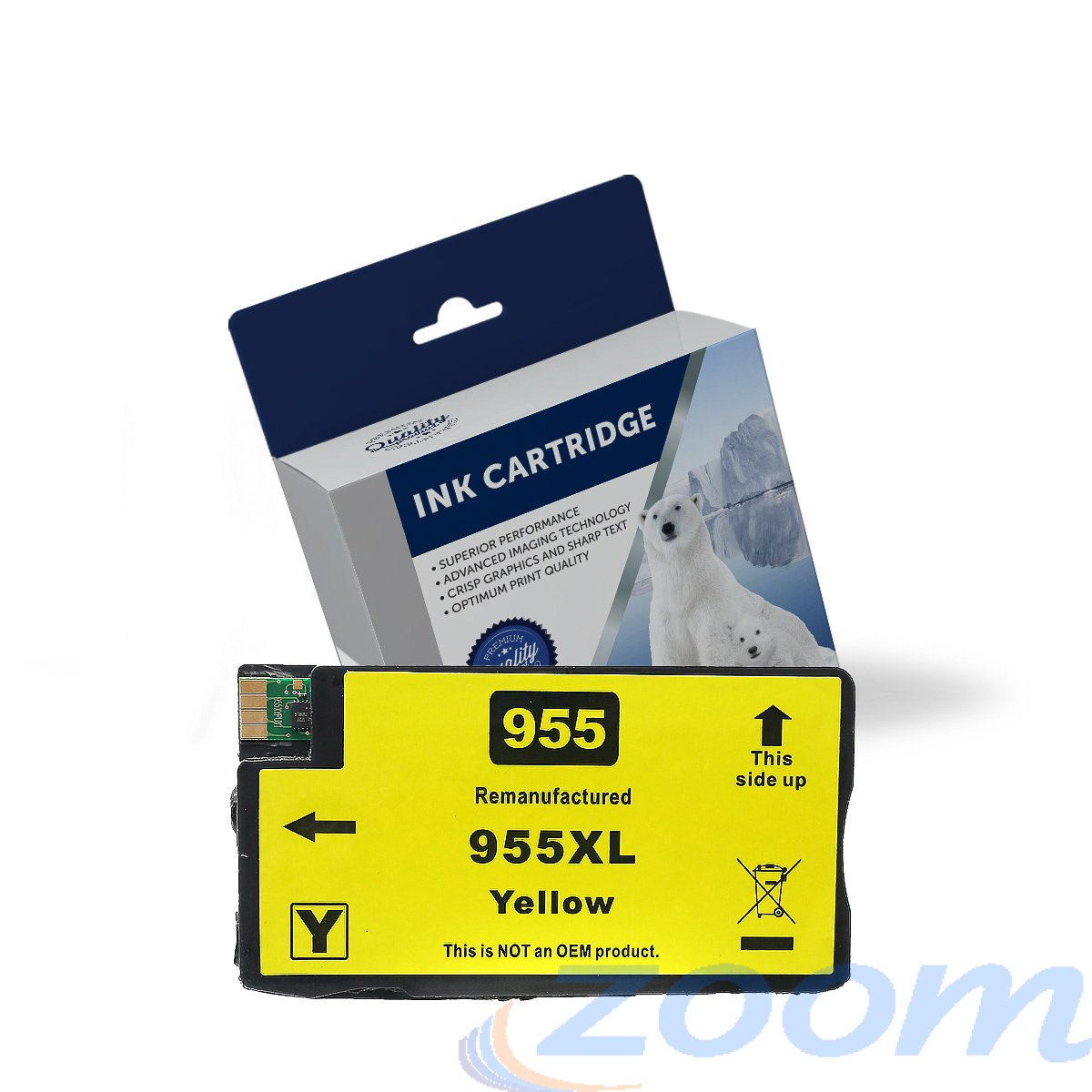 Premium Compatible HP L0S69AA, #955XL Yellow High Yield Ink Cartridge