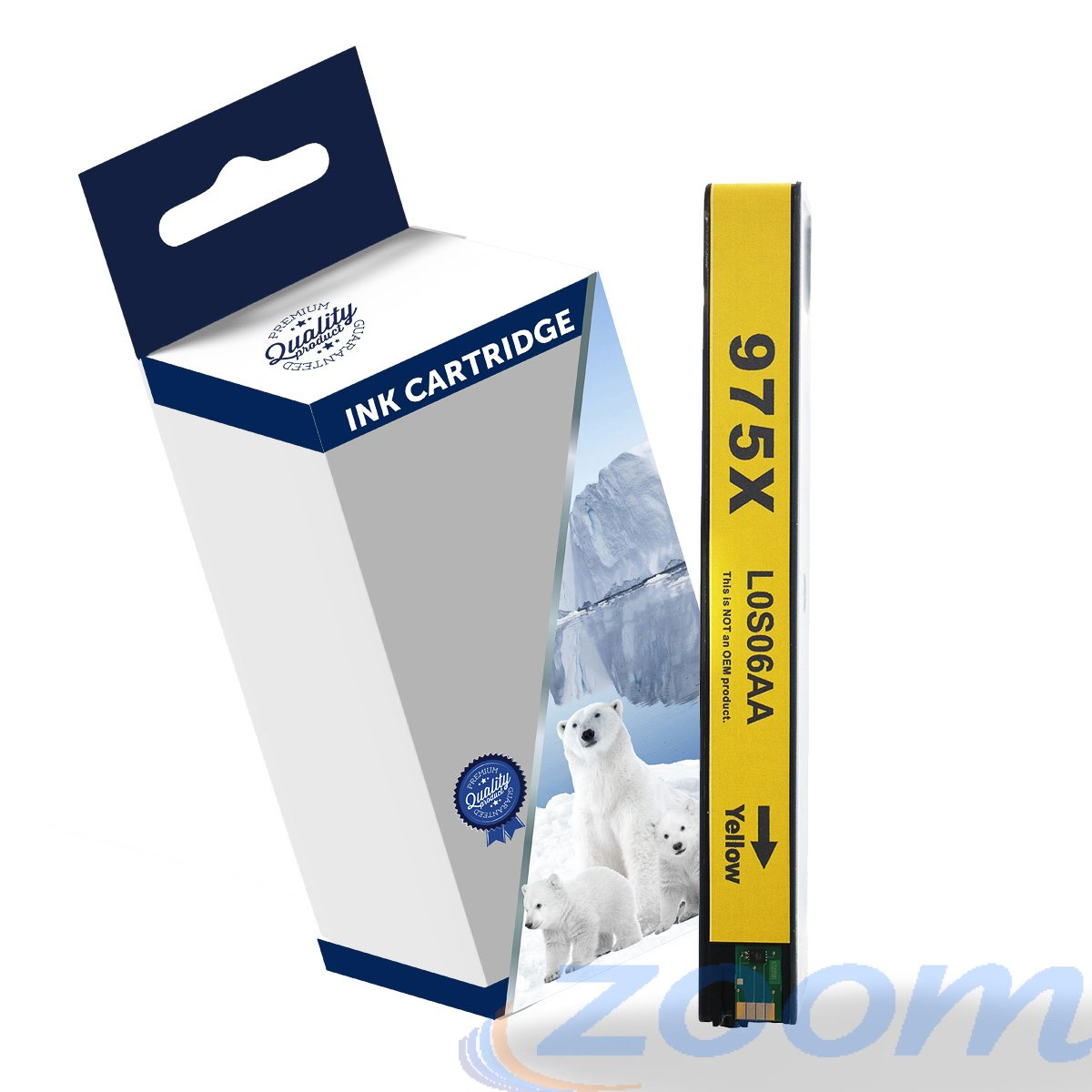 Premium Compatible HP L0S06AA, #975XL Yellow High Yield Ink Cartridge