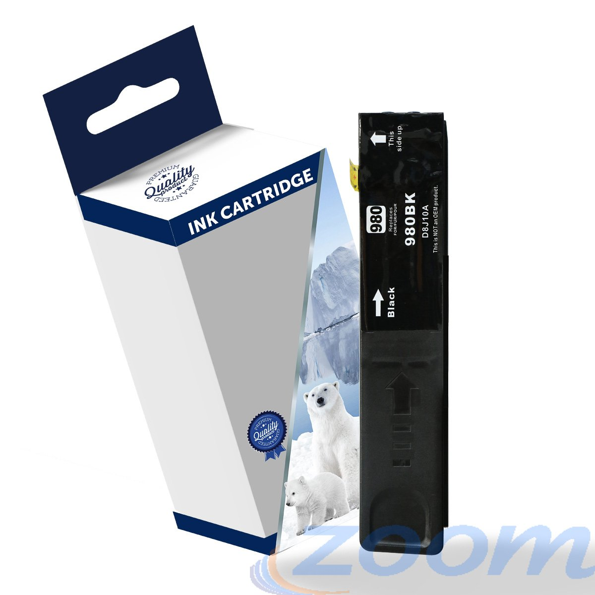 Premium Compatible HP D8J10A, #980 Black Ink Cartridge