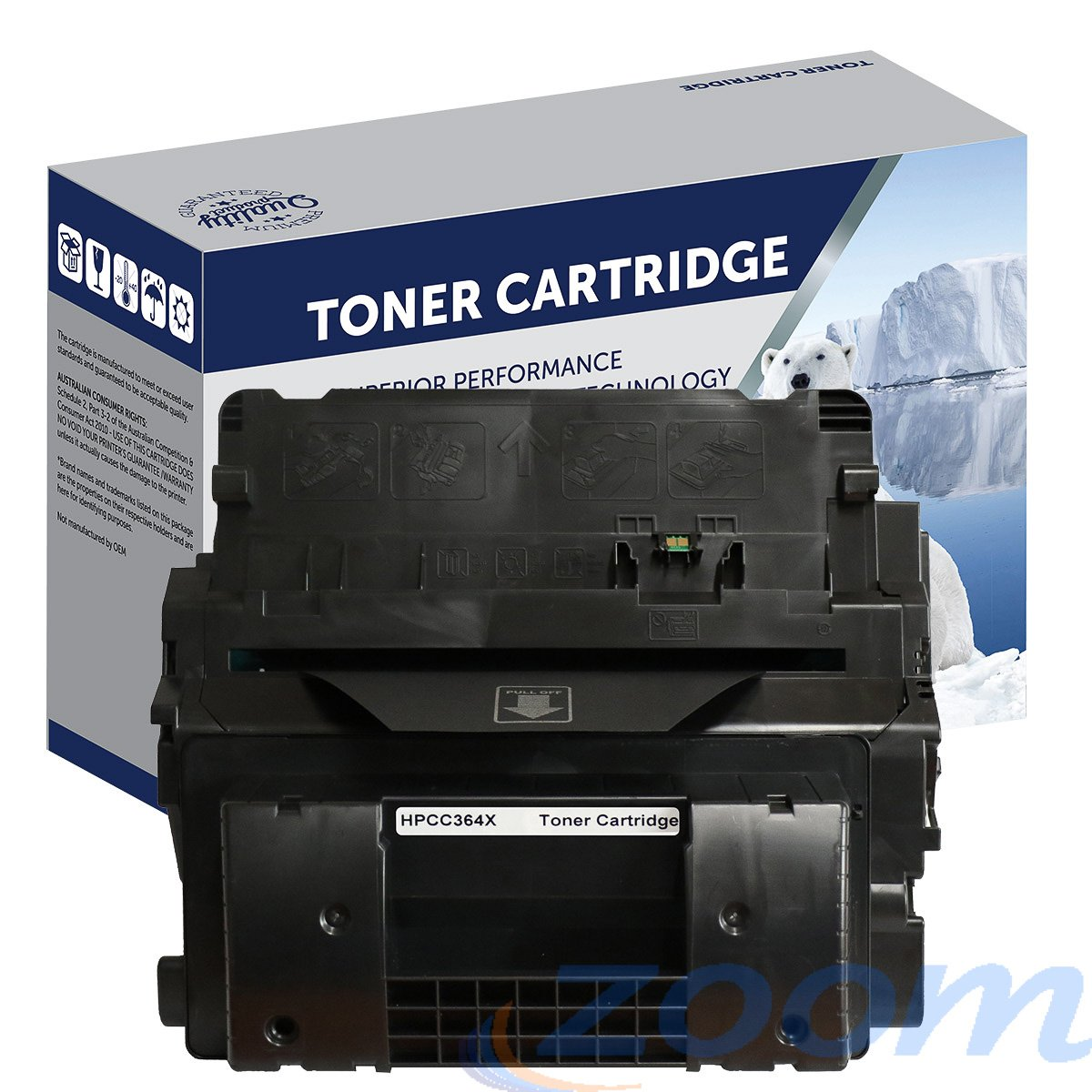 Premium Compatible HP CC364X, #64X Mono High Yield Toner Cartridge