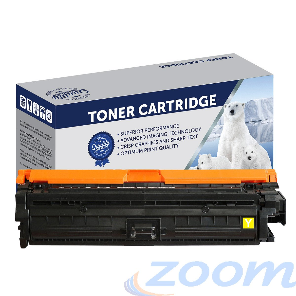 Premium Compatible HP CE272A, #650 Yellow Toner Cartridge