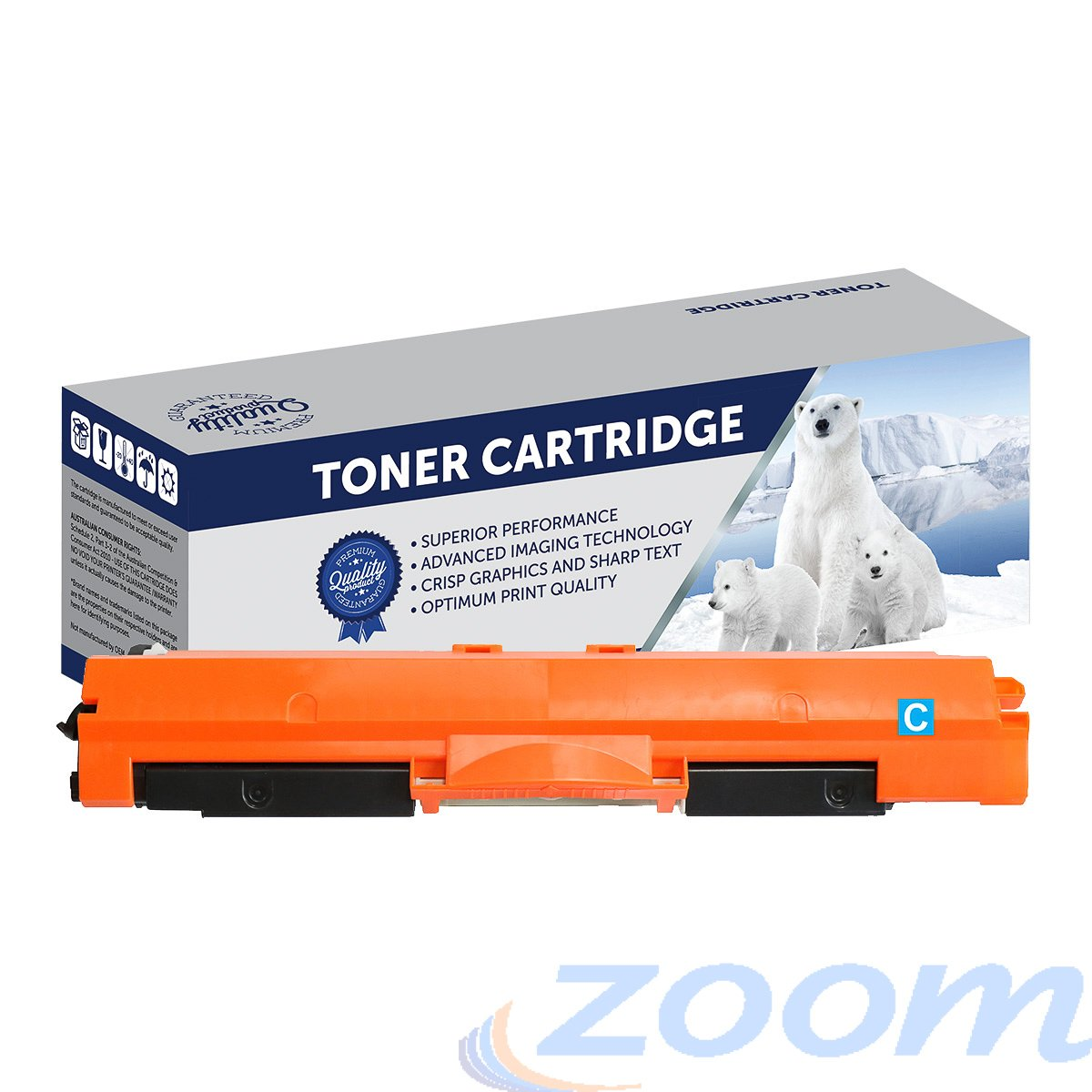 Premium Compatible HP CE311A, #126 Cyan Toner Cartridge