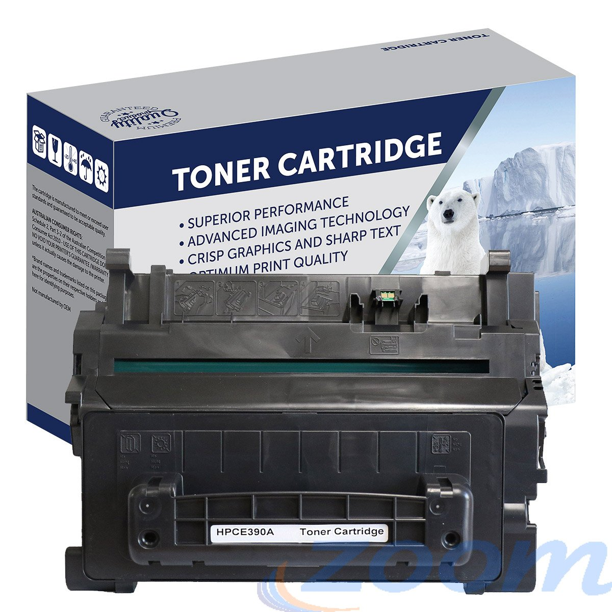 Premium Compatible HP CE390A, #90A Mono Toner Cartridge