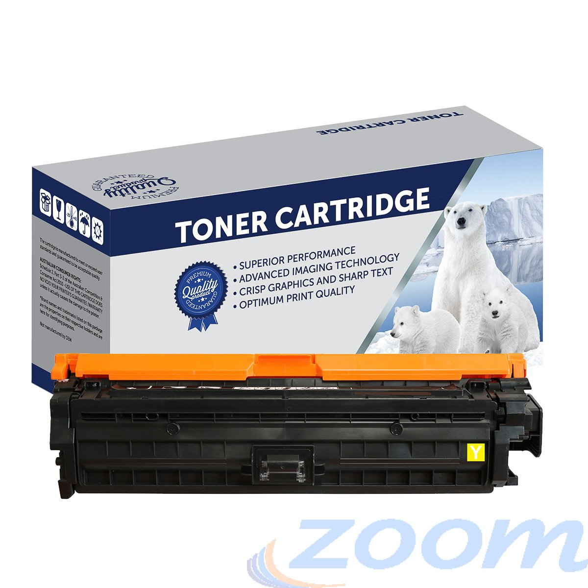 Premium Compatible HP CE742A, #307 Yellow Toner Cartridge