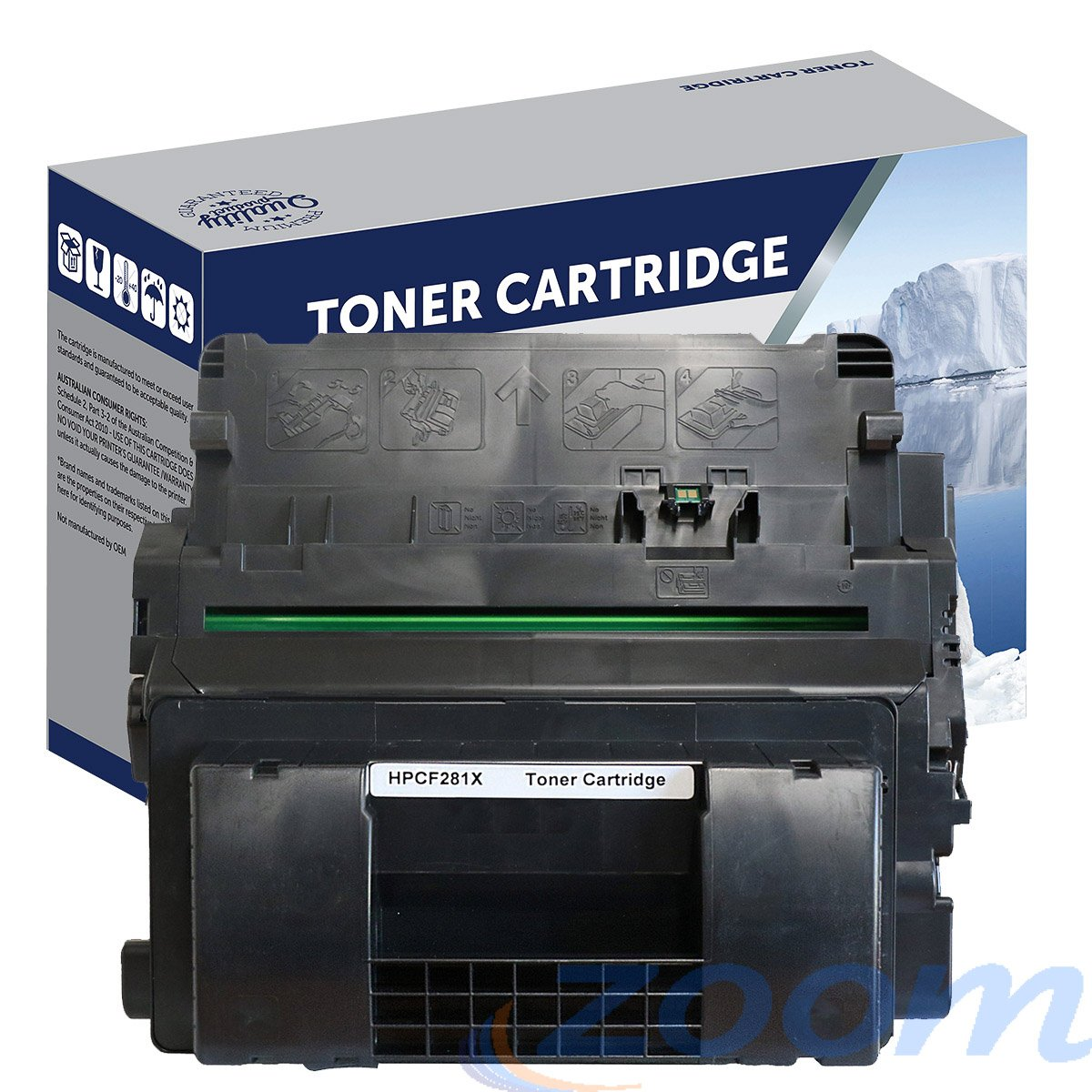Premium Compatible HP CF281X, #81X Mono High Yield Toner Cartridge