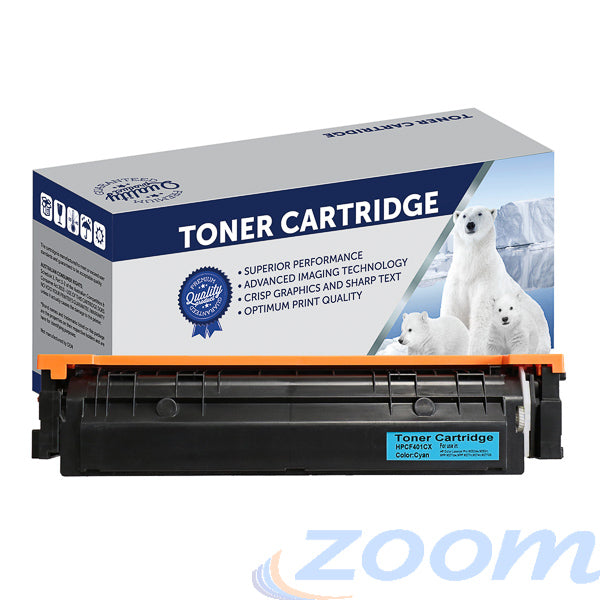 Premium Compatible HP CF401X, #201X Cyan Toner Cartridge