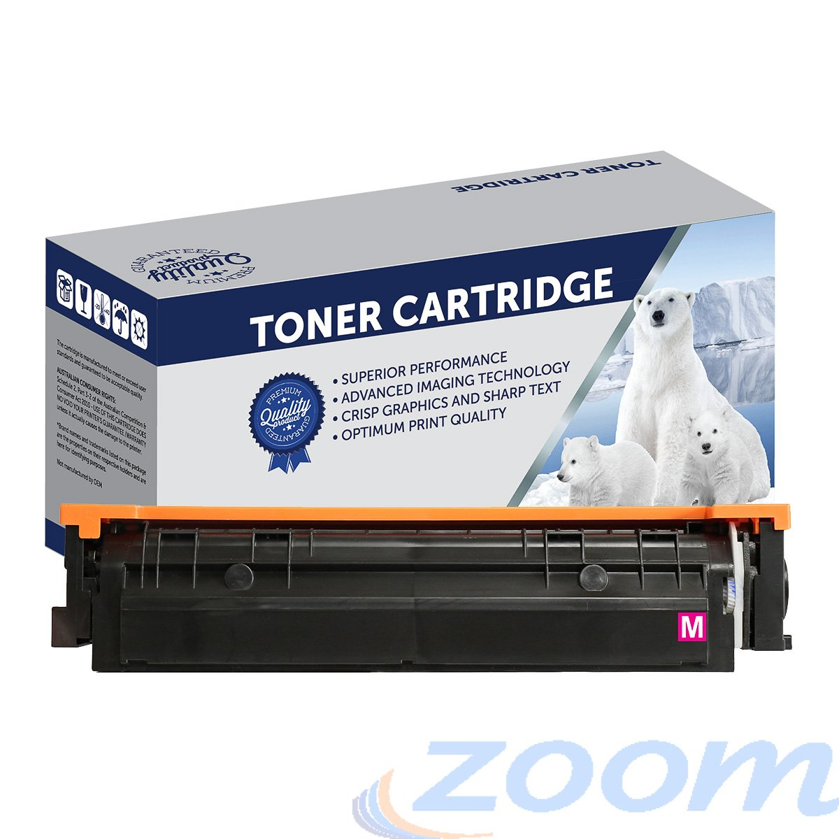 Premium Compatible HP CF513A, #204A Magenta Toner Cartridge