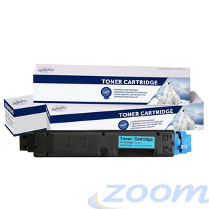 Premium Compatible Kyocera TK5144C Cyan Toner Cartridge + 1 Waste Container