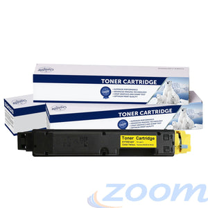 Premium Compatible Kyocera TK5144Y Yellow Toner Cartridge + 1 Waste Container