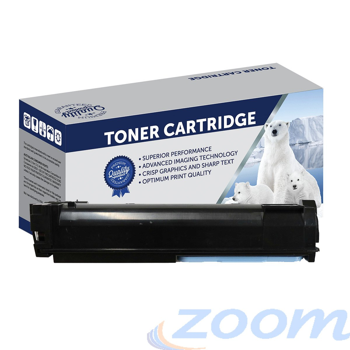 Premium Compatible Kyocera TK544K Black Toner Cartridge
