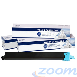 Premium Compatible Kyocera TK8319C Cyan Toner Cartridge + 1 Waste Container