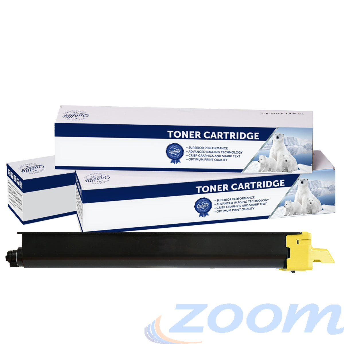 Premium Compatible Kyocera TK8329Y Yellow Toner Cartridge + 1 Waste Container