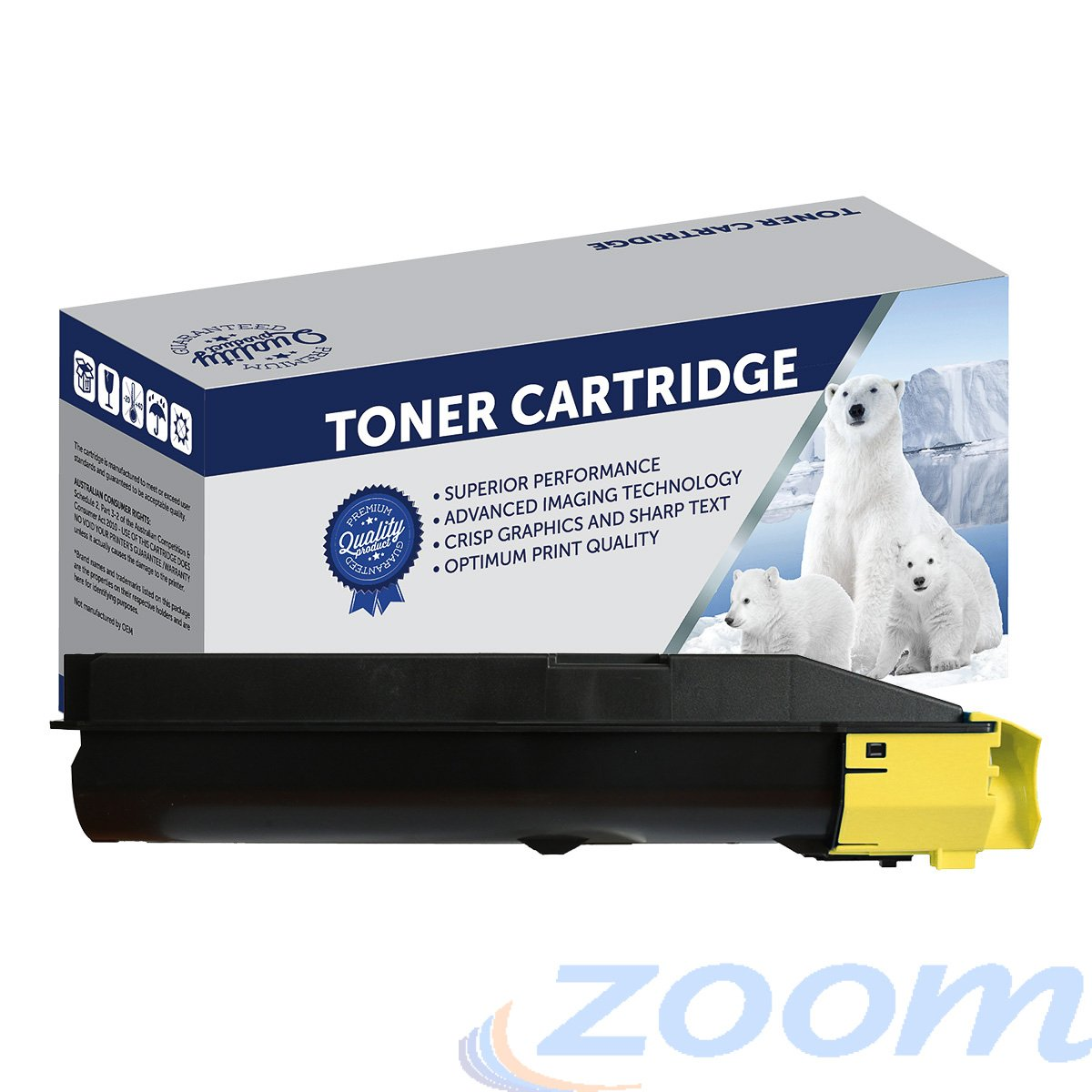 Premium Compatible Kyocera TK8604Y Yellow Toner Cartridge