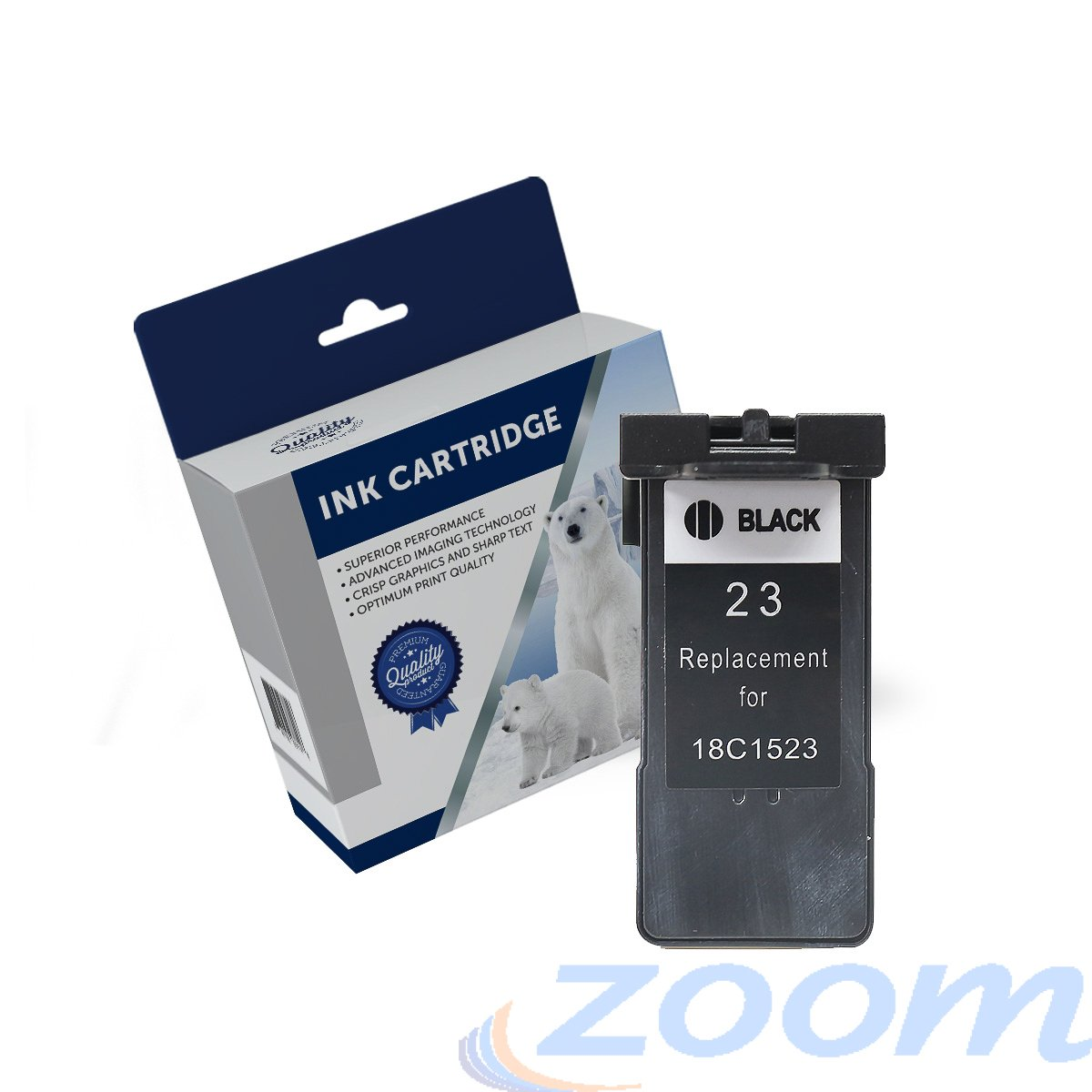 Premium Compatible Lexmark 18C1523AAN, #23 Black Ink Cartridge
