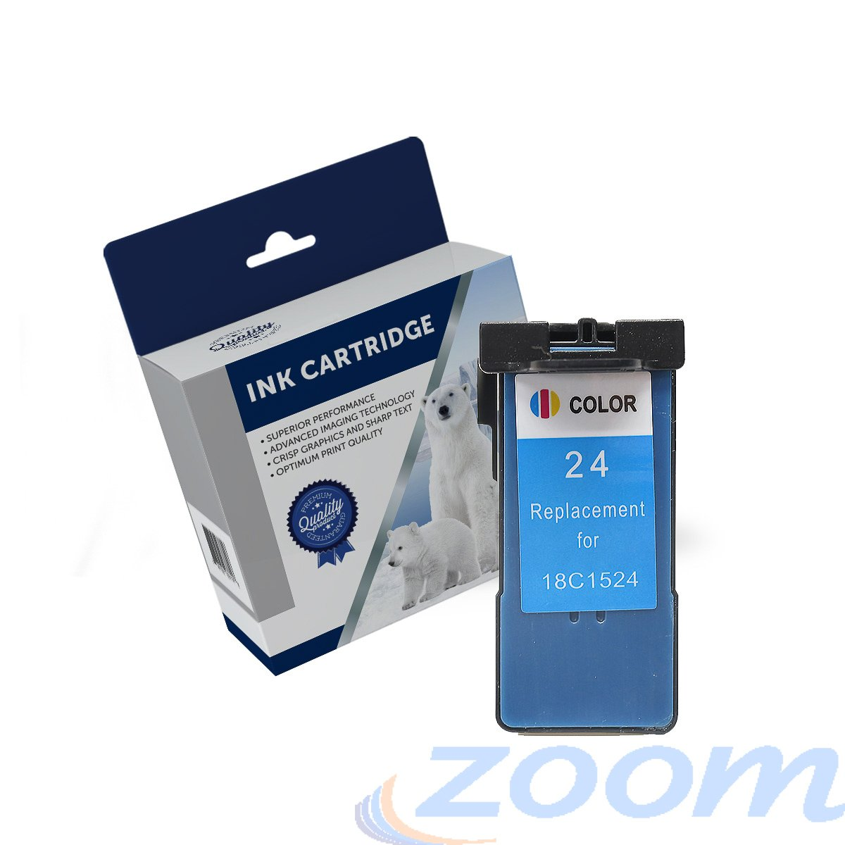 Premium Compatible Lexmark 18C1524AAN, #24 TriColour Ink Cartridge