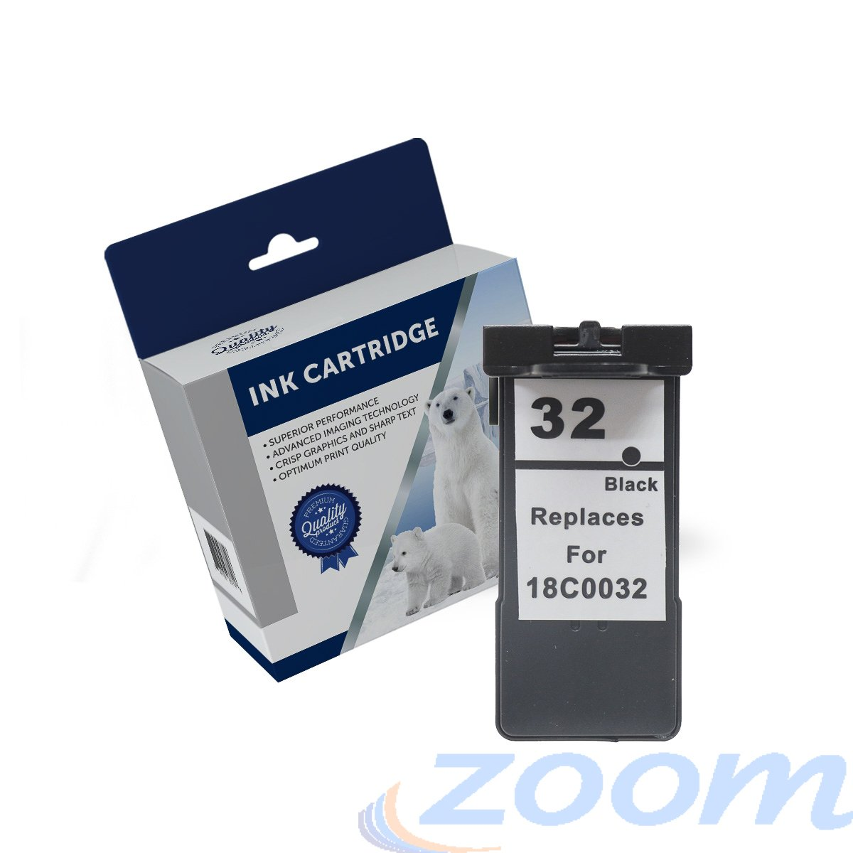 Premium Compatible Lexmark 18C0032AAN, #32 Black Ink Cartridge