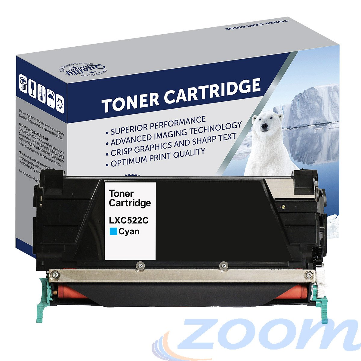 Premium Compatible Lexmark C5220CS Cyan Toner Cartridge