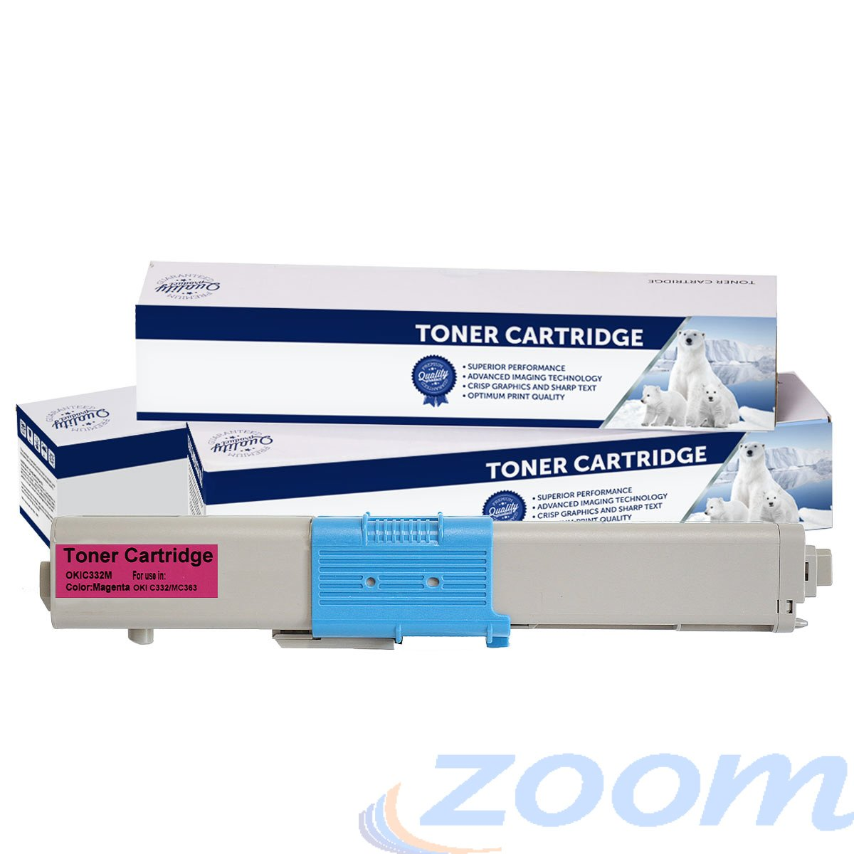 Premium Compatible Oki 46508718 Magenta Toner Cartridge