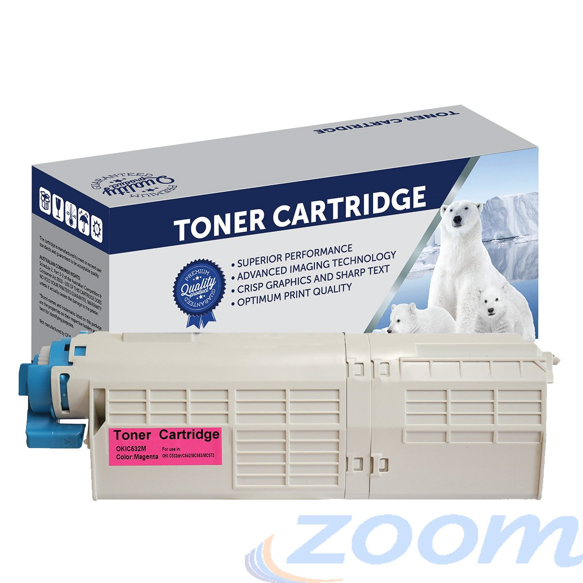 Premium Compatible Oki 46490610 Magenta Toner Cartridge
