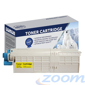Premium Compatible Oki 46490609 Yellow Toner Cartridge