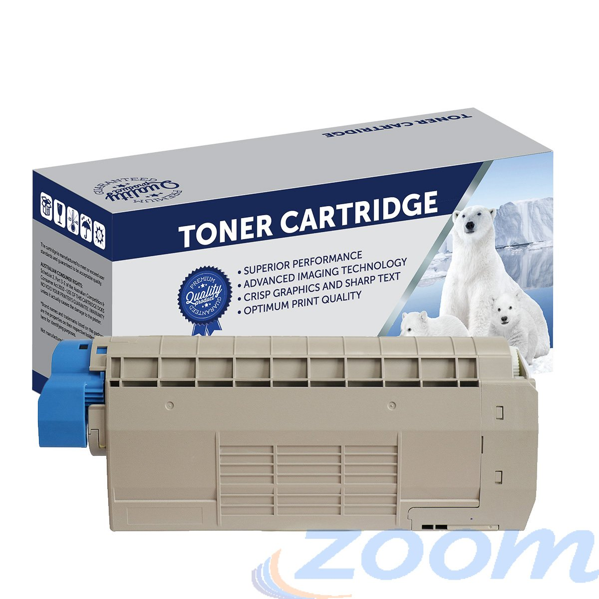 Premium Compatible Oki 46507511 Cyan Toner Cartridge